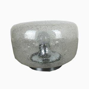 Deutsche Vintage Eisglas Wandlampe von Hillebrand Lighting