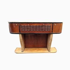 Mid-Century Wood and Marble Sideboard, 1950s