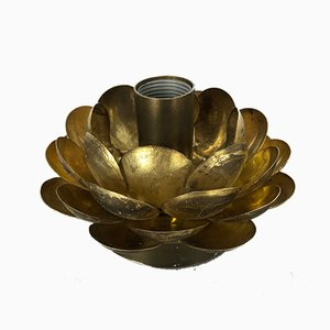 Mid-Century Brutalist Italian Brass Metal Model Artichoke Sconces, 1960s, Set of 2