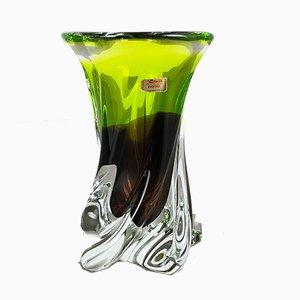 Grand Vase Vintage Vert en Verre Cristal de Joska, Allemagne, 1970s