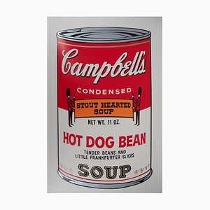 Campbell's Soup Stout Hearted Soup Serigraph Reprint by Andy Warhol
