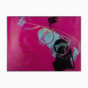 Perrier Rose Poster Reprint by Andy Warhol, 1983