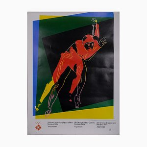 Winter Olympics Sarajevo Poster Reprint by Andy Warhol, 1984