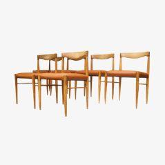 Chaises de Salon en Chêne par Henry W. Klein pour Bramin, Danemark, 1967, Set de 6