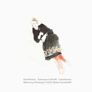 Celia in a Black Dress Lithograph by David Hockney, 1984