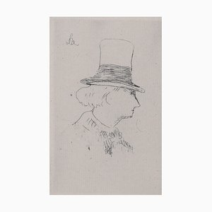 Portrait of Charles Baudelaire Radierung von Edouard Manet, 1862