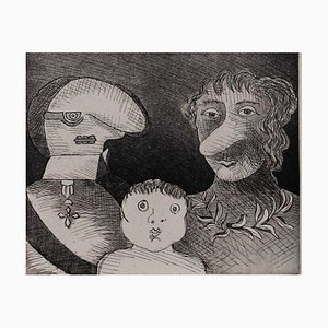 Family Etching by Enrico Baj, 1971