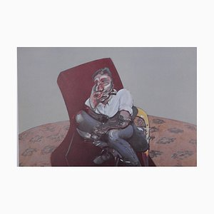 Triptych Lithograph Reprint by Francis Bacon, 1966