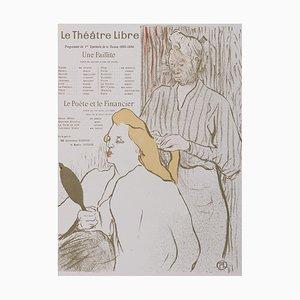 Le Théâtre Libre Lithograph by Henri de Toulouse-Lautrec, 1894