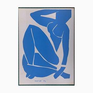 Nu Bleu III Pochoir Reprint by Henri Matisse, 1954