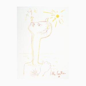 Faune au Soleil Lithograph by Jean Cocteau