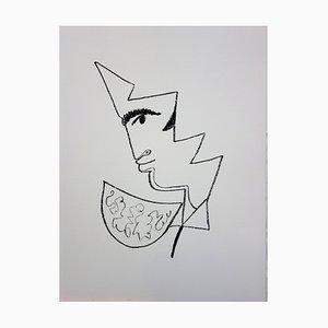 Toréador de Profil Lithograph by Jean Cocteau, 1965