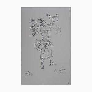 Orpheus Lithograph by Jean Cocteau