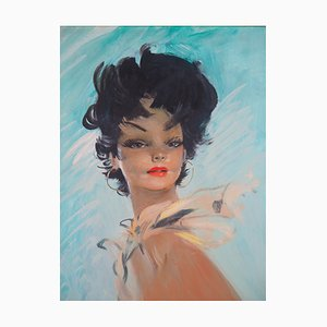 Le Foulard d'Or Oil Painting by Jean-Gabriel Domergue