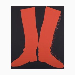 Sérigraphie Two Boots Rouges par Jim Dine, 1964