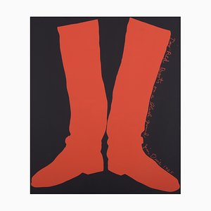 Two Red Boots Serigraph by Jim Dine, 1964