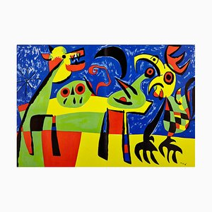 The Dog Barking at the Moon Lithograph by Joan Miró, 1952