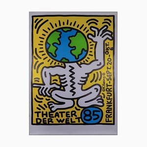 Theater der Welt Frankfurt Screenprint by Keith Haring, 1986