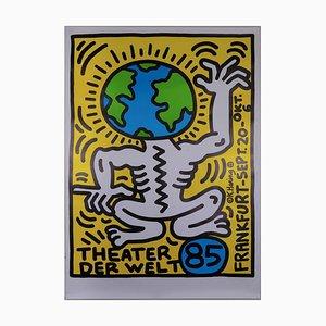 Theater der Welt Frankfurt Siebdruck von Keith Haring, 1986