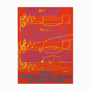 Montreux Jazz Festival Screenprint by Keith Haring, 1991