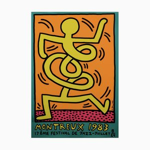 Montreux Jazz Festival Screenprint by Keith Haring, 1983