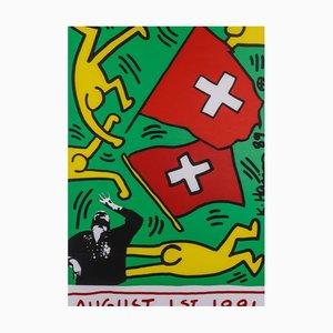 1. August 1991 Siebdruck von Keith Haring, 1987