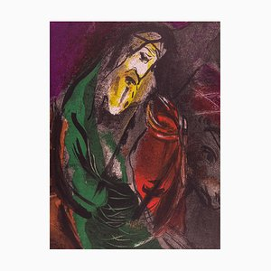 Lithographie The Bible: Jeremiah par Marc Chagall, 1956