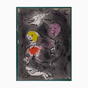 The Bible: Prophet Daniel with Lions Lithograph by Marc Chagall, 1956