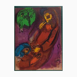 The Bible: David and Absalom Lithograph by Marc Chagall, 1956