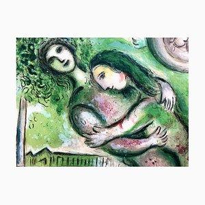 Lithographie Romeo and Juliet Paris Opera par Marc Chagall, 1964