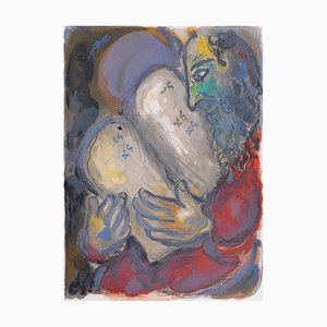 Moses Casts Out the Tablets Lithograph by Marc Chagall, 1966