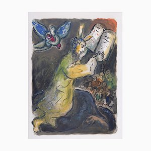 The Ten Commandments Lithografie von Marc Chagall, 1966