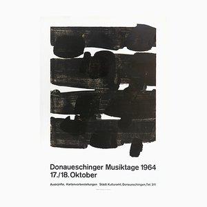 Affiche Donaueschinger Musiktage par Pierre Soulages, 1972