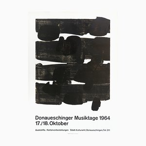 Donaueschinger Musiktage Poster by Pierre Soulages, 1972