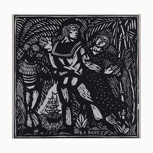 La Danse Wood Engraving by Raoul Dufy
