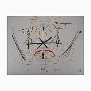 Balance Lithograph by Jean Cocteau and Raymond Moretti