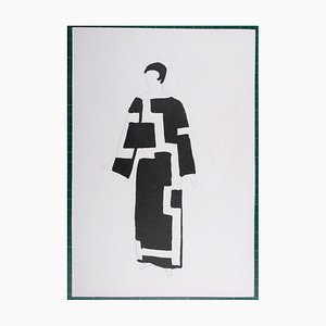 Costumes Pochoir Reprint by Sonia Delaunay, 1969