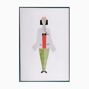 Pochoir Reprint Kostüme von Sonia Delaunay, 1969
