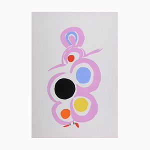 Disfraces Pochoir Reprint de Sonia Delaunay, 1969