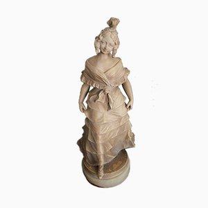 Abendkleid Skulptur aus Terrakotta in Dame von Alphonse Henry Nelson
