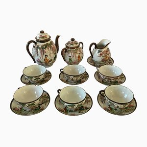 Vintage Japanese Porcelain Tea Set, 1920s