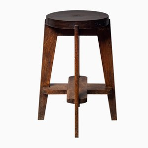 Mid-Century Stool by Pierre Jeanneret, 1960s