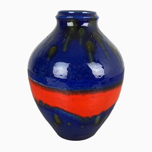 Vintage German Fat Lava Vase by Heinz Siery for Carstens Tönnieshof, 1970s