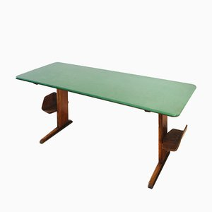 Mid-Century German Green Formica School Desk, 1960s