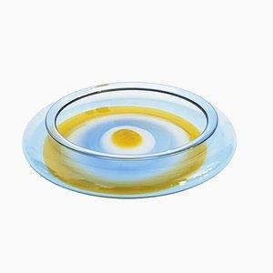 Teller in Hellblau und Orange von Gian Maria Potenza für La Murrina, 1960er