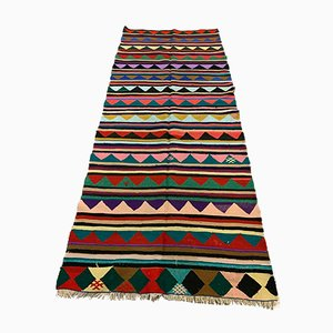 Large Vintage Turkish Wool Kilim Rug, 1950s