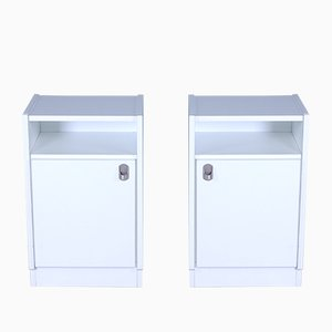 White Nightstands, 1970s, Set of 2