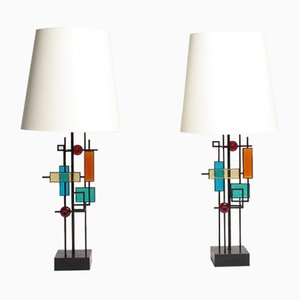 Mid-Century Danish Table Lamps by Svend Aage Holm Sørensen for Holm Sørensen & Co, 1960s, Set of 2