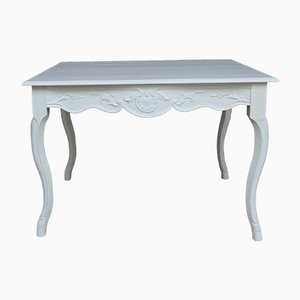 Vintage French White Dining Table