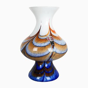 Große italienische Vintage Vase von Opaline Florence, 1970er